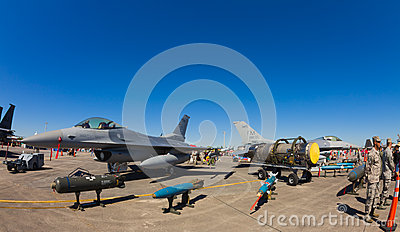 F-16 Fighting Falcon jets Editorial Photography