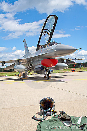 F-16 suit and helmet Editorial Stock Photo