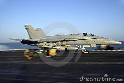 F-18 Hornet Catapult Shot