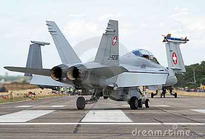 F-18 Hornet Fighter jet Editorial Stock Photo