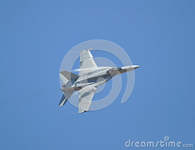 F-18 Hornet sideways Editorial Photography