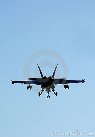 Military jet silhouette