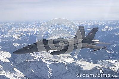 F/A-18C Hornet jet aircraft