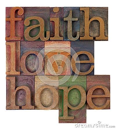 Fé, amor e esperança