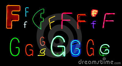 F G Neon Letters