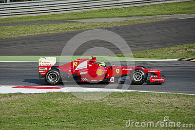 F. Massa in Monza 2012 practice day. Editorial Stock Photo