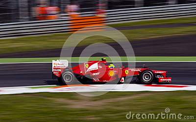 F. Massa in Monza 2012 practice day. Editorial Photo