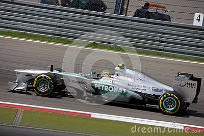 F1 Photo Formula One Mercedes Car : Lewis Hamilton Editorial Photography