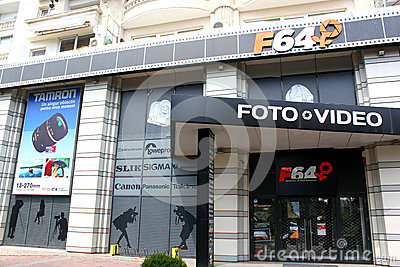 F64 store digital cameras and video Editorial Stock Image
