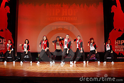 F-team dance at Hip Hop International Cup Editorial Photography