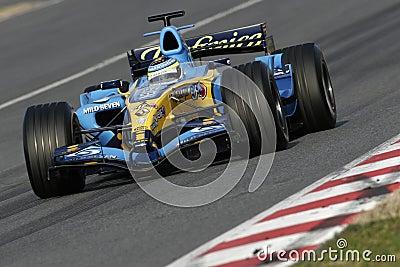 F1 2006 - Giancarlo Fisichella Renault Editorial Stock Image