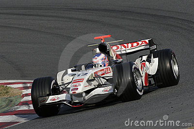 F1 2006 - Jenson Button Honda Editorial Photo