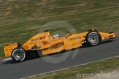 F1 2006 - Juan Pablo Montoya McLaren Editorial Photography