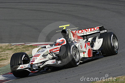 F1 2006 - Rubens Barrichello Honda Imagem de Stock Editorial