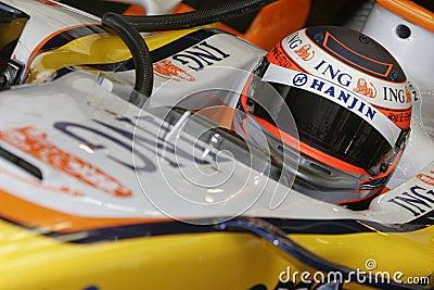 F1 2007 - Heikki Kovalainen Renault Editorial Stock Photo