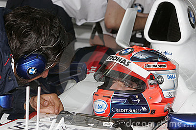 F1 2007 - Robert Kubica BMW Sauber Editorial Stock Photo