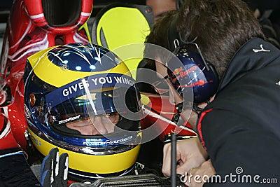 F1 2007 - Sebastien Bourdais Toro Rosso Editorial Stock Image