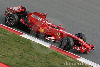 F1 2008 - Kimi Raikkonen Ferrari Editorial Photo