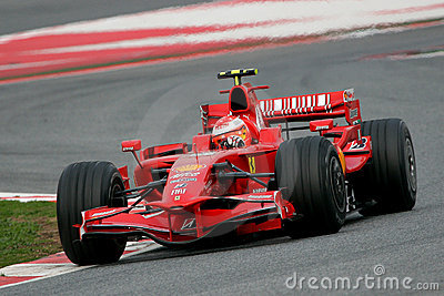 F1 2008 - Michael Schumacher Ferrari Foto de Stock Editorial