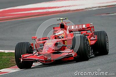 F1 2008 - Michael Schumacher Ferrari Foto de Stock Editorial