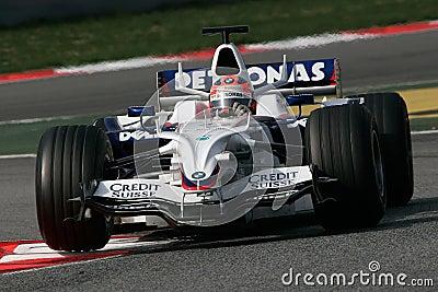 F1 2008 - Robert Kubica BMW Sauber Editorial Stock Photo