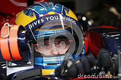 F1 2008 - Sebastien Bourdais Toro Rosso Editorial Stock Photo