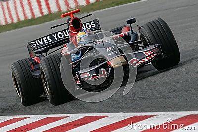 F1 2008 - Sebastien Bourdais Toro Rosso Editorial Photo