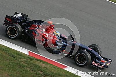 F1 2008 - Sebastien Bourdais Toro Rosso Editorial Stock Image
