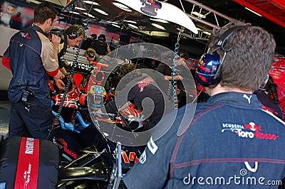 F1 2008 - Sebastien Bourdais Toro Rosso Editorial Image