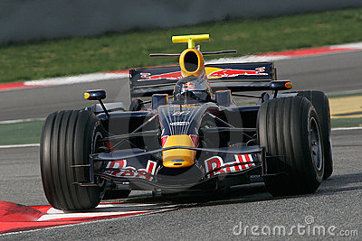 F1 2008 - Sebastien Vettel Red Bull Editorial Photo