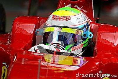 F1 2009 - Felipe Massa Ferrari Editorial Photography
