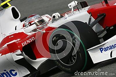 F1 2009 - Jarno Trulli Toyota Editorial Stock Photo