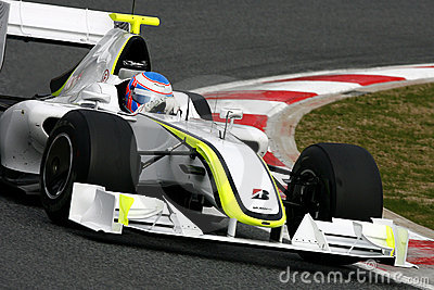 F1 2009 - Jenson Button Brawn GP Editorial Stock Image