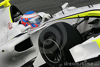 F1 2009 - Jenson Button Brawn GP Editorial Stock Photo