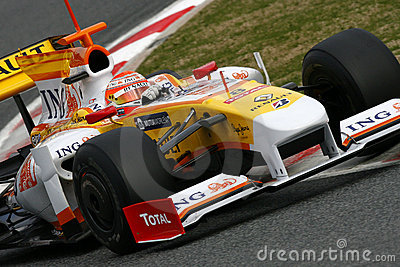 F1 2009 - Nelson Piquet Renault Editorial Stock Photo