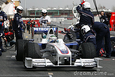 F1 2009 - Nick Heidfeld BMW Sauber Editorial Photo