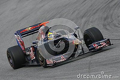 F1 2009 - Sebastien Bourdais Toro Rosso Editorial Stock Photo