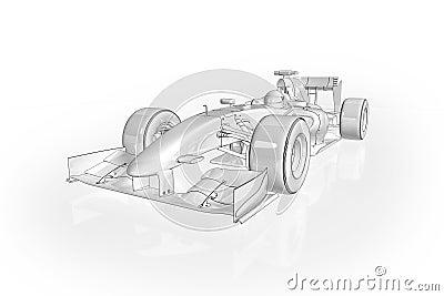 Afbeelding Kleurplaat Raceauto F1 Auto Stock Foto Afbeelding 11343960
