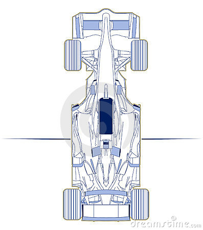 F1 car scheme top view