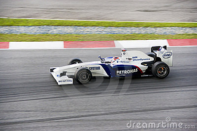 F1 Racing 2009 - Robert Kubica (BMW Sauber) Editorial Photography