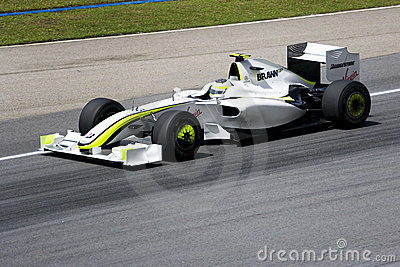 F1 Racing 2009 - Rubens Barrichello (Brawn GP) Editorial Stock Photo