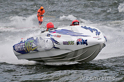 F1 waterski race boat Editorial Stock Photo