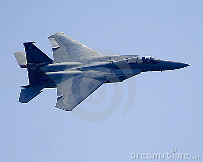 F15 Jet fighter in flight