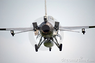 F16 fighter aircraft in midair