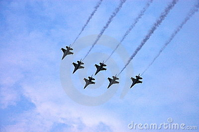 F16 fighter jet air show