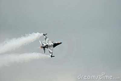 F16 fighter plane in action