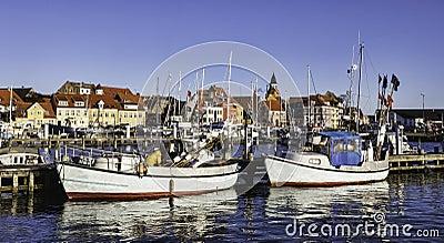 Faaborg harbour in Denmark