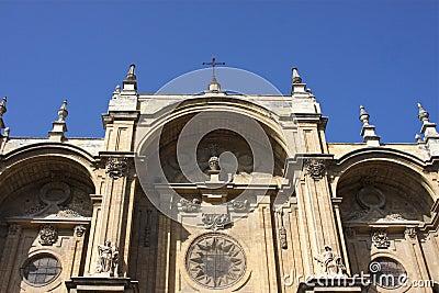 Façade of Granada Cathedral