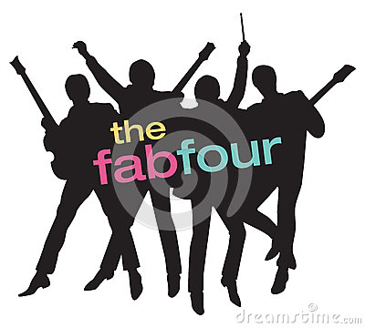 Free Fab Four Beatles Silhouette Vector Illustration Stock Image - 73198061