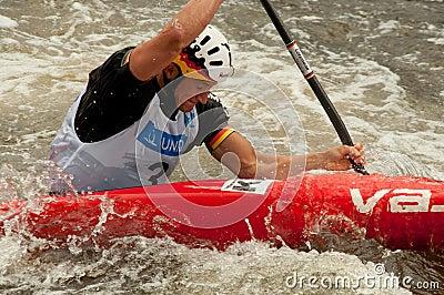 Fabian Doerfler paddling Editorial Image